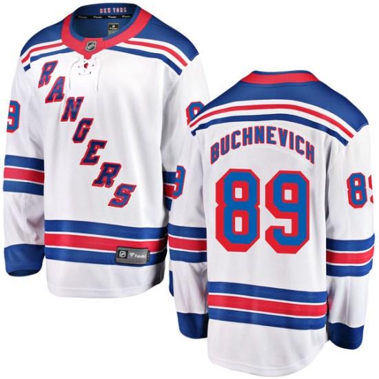 Fanatics Branded Pavel Buchnevich New York Rangers Youth Breakaway Away Jersey - White
