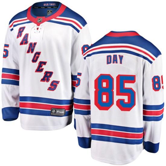 Fanatics Branded Sean Day New York Rangers Youth Breakaway Away Jersey - White