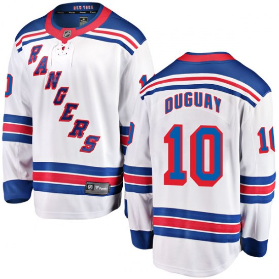Fanatics Branded Ron Duguay New York Rangers Youth Breakaway Away Jersey - White