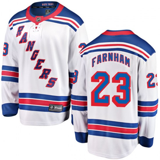 Fanatics Branded Bobby Farnham New York Rangers Youth Breakaway Away Jersey - White