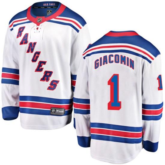 Fanatics Branded Eddie Giacomin New York Rangers Youth Breakaway Away Jersey - White