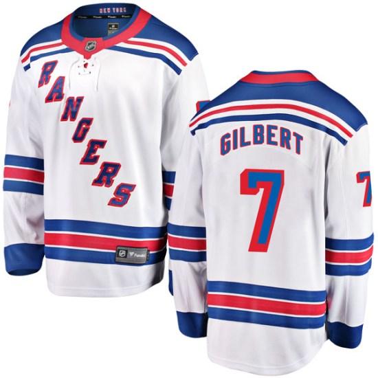 Fanatics Branded Rod Gilbert New York Rangers Youth Breakaway Away Jersey - White