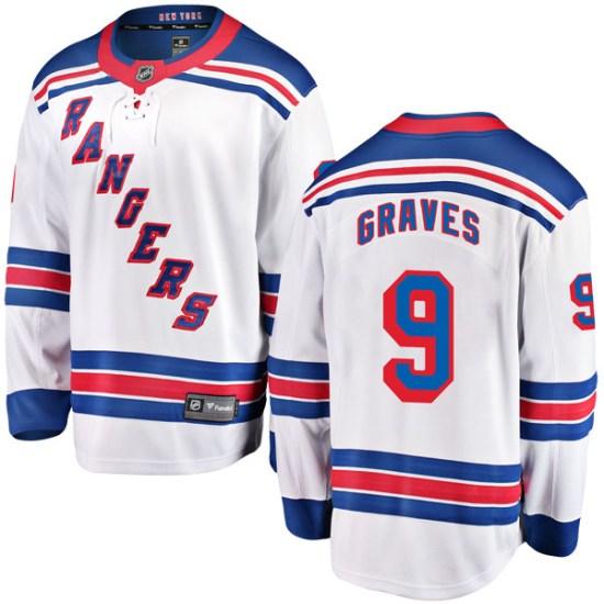 Fanatics Branded Adam Graves New York Rangers Youth Breakaway Away Jersey - White