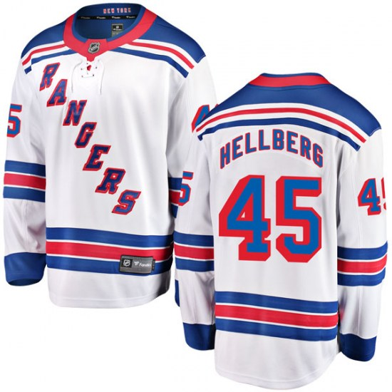 Fanatics Branded Magnus Hellberg New York Rangers Youth Breakaway Away Jersey - White