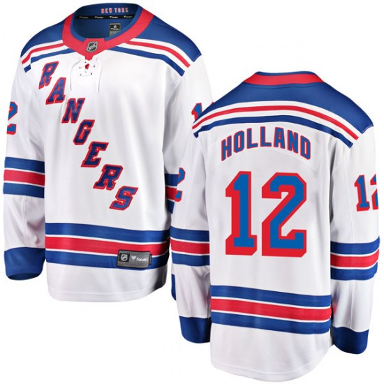 Fanatics Branded Peter Holland New York Rangers Youth Breakaway Away Jersey - White