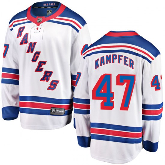 Fanatics Branded Steven Kampfer New York Rangers Youth Breakaway Away Jersey - White