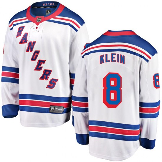 Fanatics Branded Kevin Klein New York Rangers Youth Breakaway Away Jersey - White
