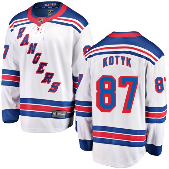 Fanatics Branded Brenden Kotyk New York Rangers Youth Breakaway Away Jersey - White