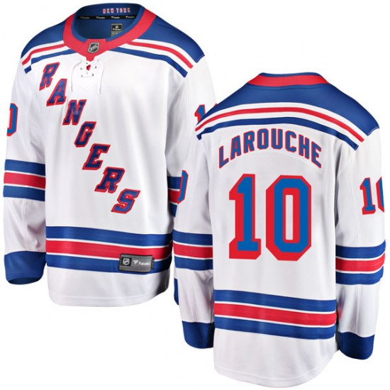 Fanatics Branded Pierre Larouche New York Rangers Youth Breakaway Away Jersey - White