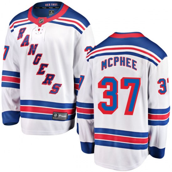 Fanatics Branded George Mcphee New York Rangers Youth Breakaway Away Jersey - White