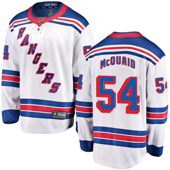 Fanatics Branded Adam McQuaid New York Rangers Youth Breakaway Away Jersey - White