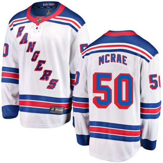 Fanatics Branded Philip McRae New York Rangers Youth Breakaway Away Jersey - White