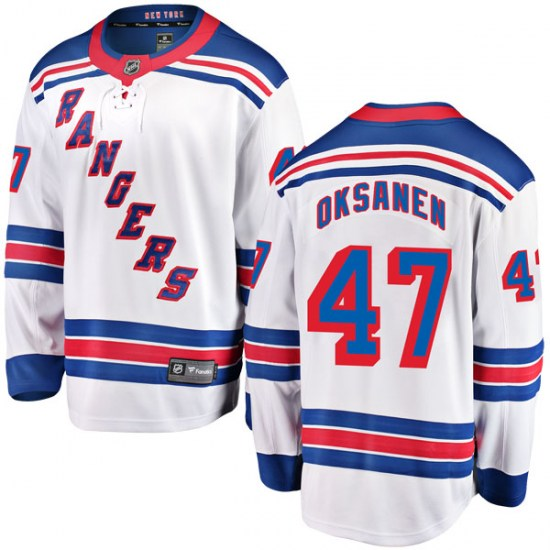 Fanatics Branded Ahti Oksanen New York Rangers Youth Breakaway Away Jersey - White