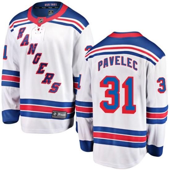 Fanatics Branded Ondrej Pavelec New York Rangers Youth Breakaway Away Jersey - White