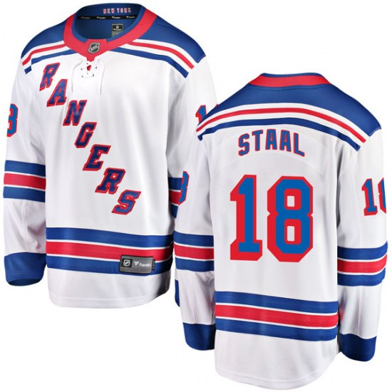 Fanatics Branded Marc Staal New York Rangers Youth Breakaway Away Jersey - White