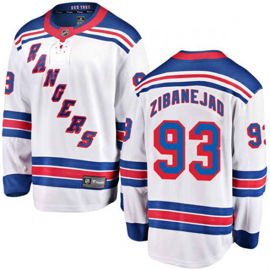 Fanatics Branded Mika Zibanejad New York Rangers Youth Breakaway Away Jersey - White