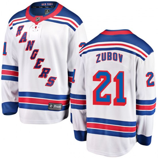 Fanatics Branded Sergei Zubov New York Rangers Youth Breakaway Away Jersey - White