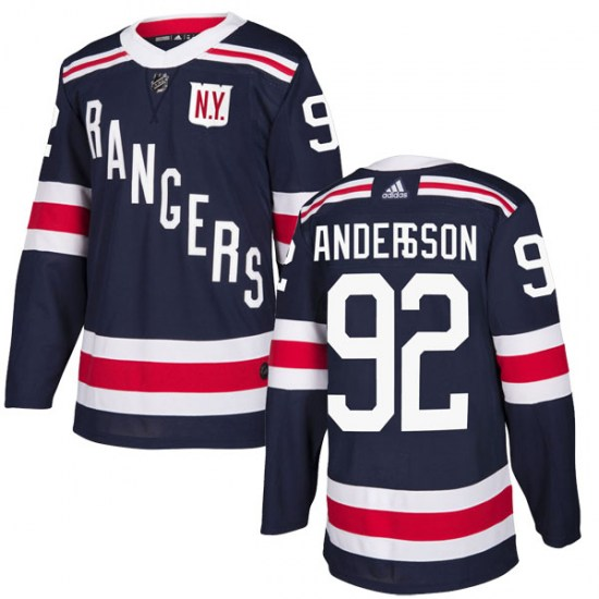 Adidas Calle Andersson New York Rangers Youth Authentic 2018 Winter Classic Home Jersey - Navy Blue