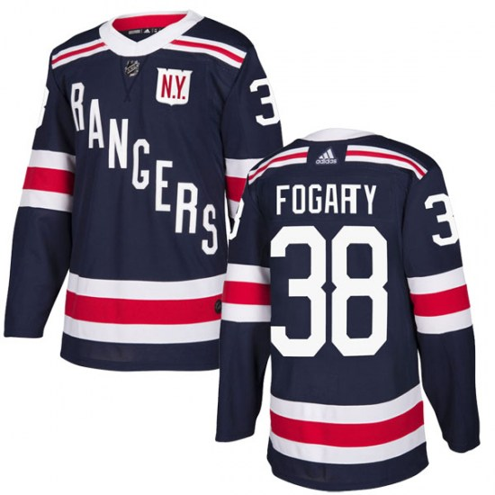 Adidas Steven Fogarty New York Rangers Youth Authentic 2018 Winter Classic Home Jersey - Navy Blue