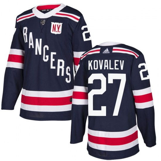 Adidas Alex Kovalev New York Rangers Youth Authentic 2018 Winter Classic Home Jersey - Navy Blue