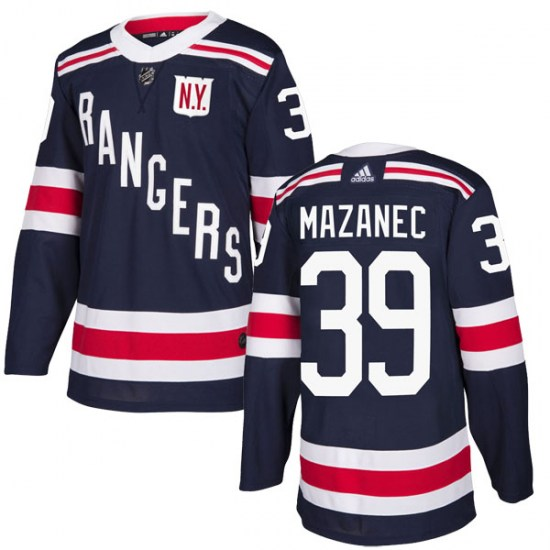 Adidas Marek Mazanec New York Rangers Youth Authentic 2018 Winter Classic Home Jersey - Navy Blue