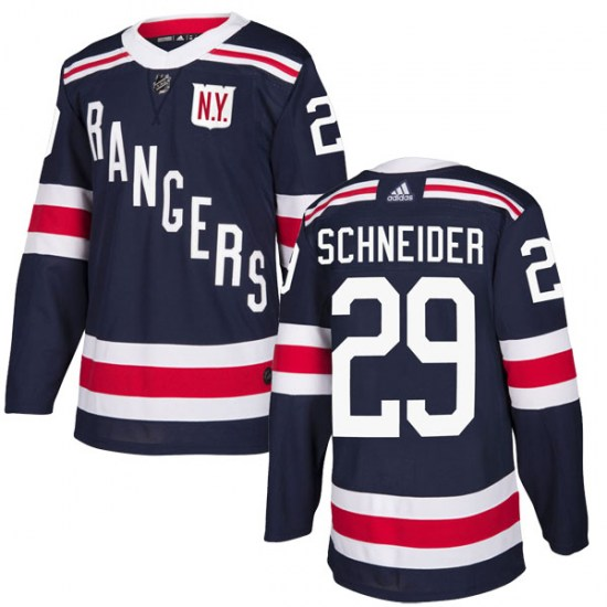 Adidas Cole Schneider New York Rangers Youth Authentic 2018 Winter Classic Home Jersey - Navy Blue
