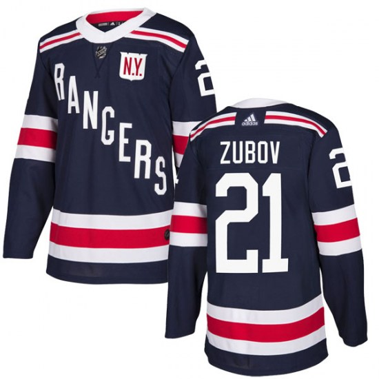 Adidas Sergei Zubov New York Rangers Youth Authentic 2018 Winter Classic Home Jersey - Navy Blue