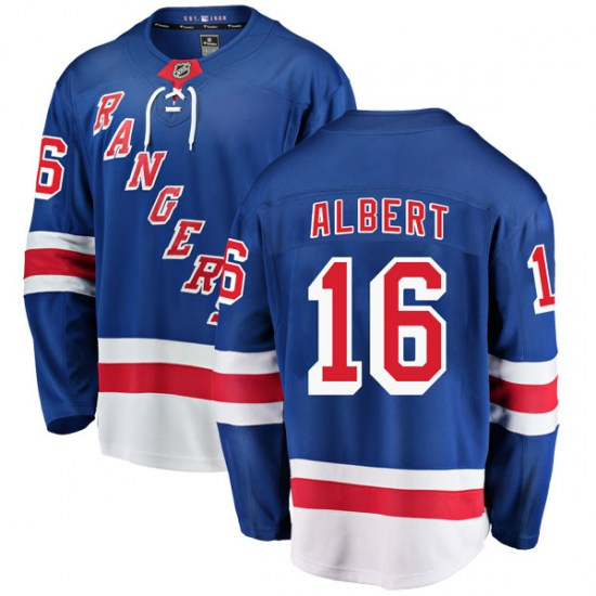 Fanatics Branded John Albert New York Rangers Youth Breakaway Home Jersey - Blue