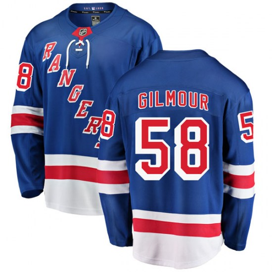 Fanatics Branded John Gilmour New York Rangers Youth Breakaway Home Jersey - Blue