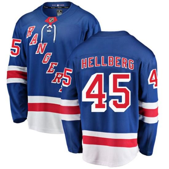 Fanatics Branded Magnus Hellberg New York Rangers Youth Breakaway Home Jersey - Blue