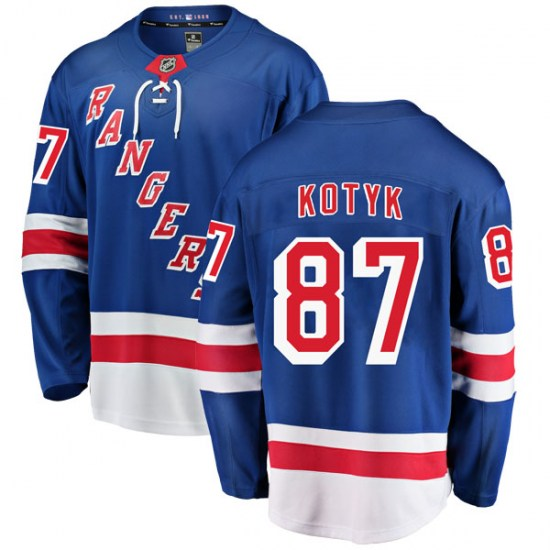 Fanatics Branded Brenden Kotyk New York Rangers Youth Breakaway Home Jersey - Blue