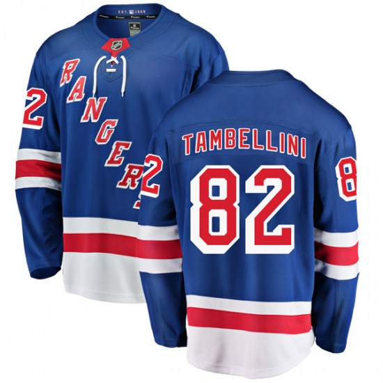 Fanatics Branded Adam Tambellini New York Rangers Youth Breakaway Home Jersey - Blue