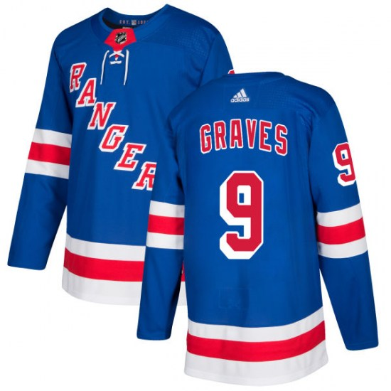 Adidas Adam Graves New York Rangers Authentic Jersey - Royal