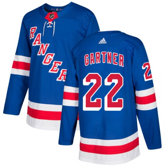 Adidas Mike Gartner New York Rangers Authentic Jersey - Royal