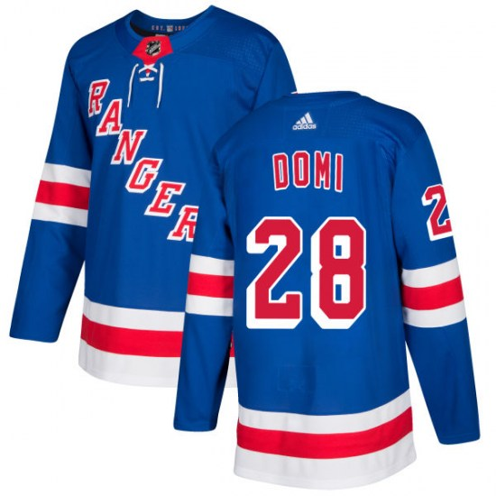 Adidas Tie Domi New York Rangers Authentic Jersey - Royal