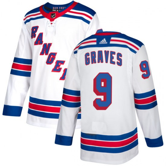 Adidas Adam Graves New York Rangers Authentic Jersey - White