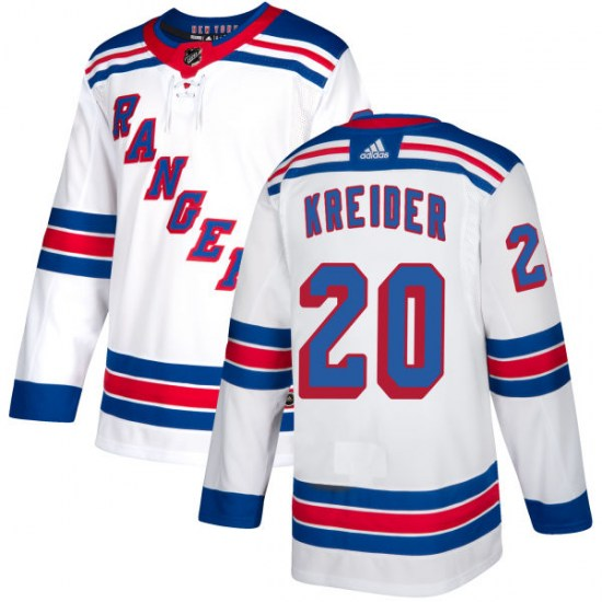 Adidas Chris Kreider New York Rangers Authentic Jersey - White