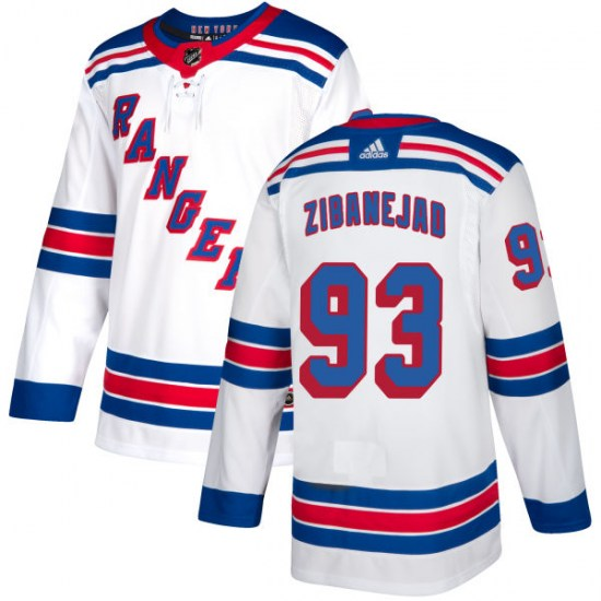 Adidas Mika Zibanejad New York Rangers Authentic Jersey - White