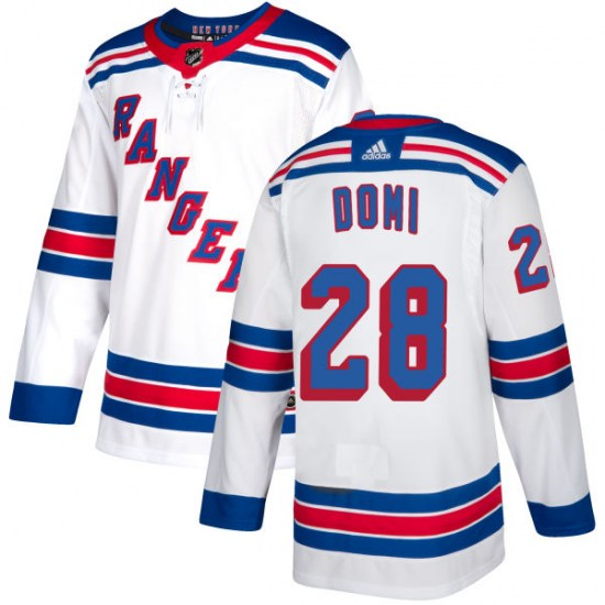 Adidas Tie Domi New York Rangers Authentic Jersey - White