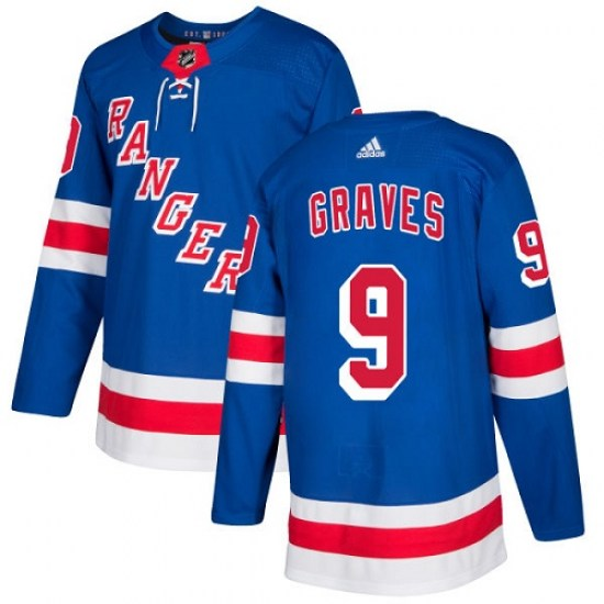 Adidas Adam Graves New York Rangers Youth Authentic Home Jersey - Royal Blue