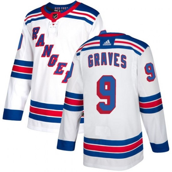Adidas Adam Graves New York Rangers Youth Authentic Away Jersey - White