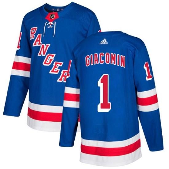 Adidas Eddie Giacomin New York Rangers Premier Home Jersey - Royal Blue