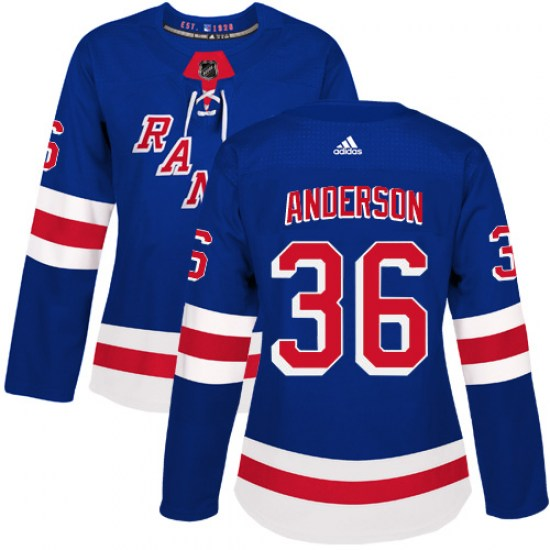 Adidas Glenn Anderson New York Rangers Women's Authentic Home Jersey - Royal Blue