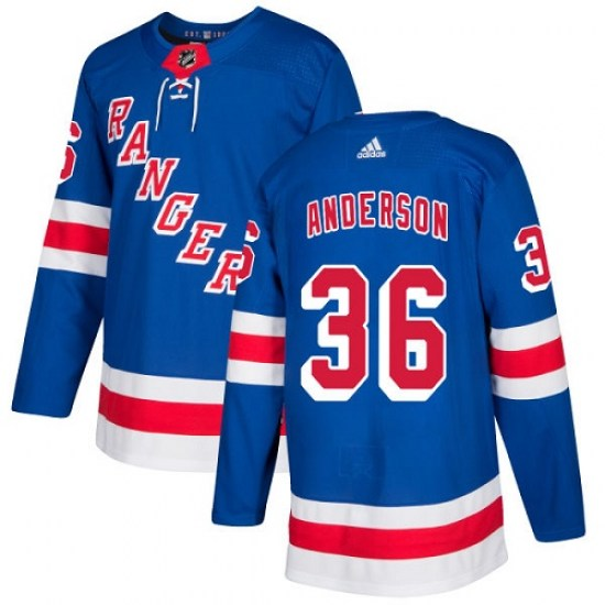 Adidas Glenn Anderson New York Rangers Youth Authentic Home Jersey - Royal Blue