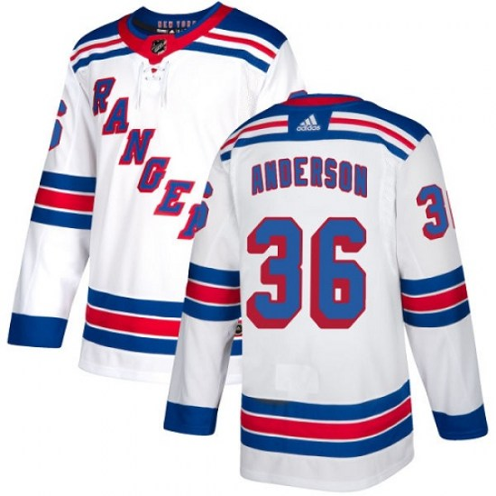 Adidas Glenn Anderson New York Rangers Youth Authentic Away Jersey - White