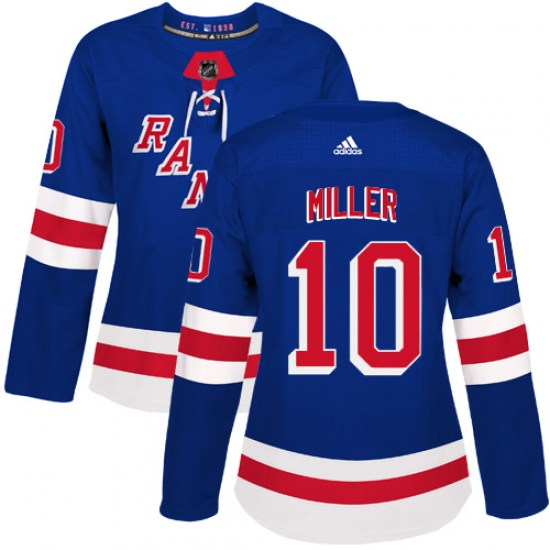 Adidas J.T. Miller New York Rangers Women's Authentic Home Jersey - Royal Blue