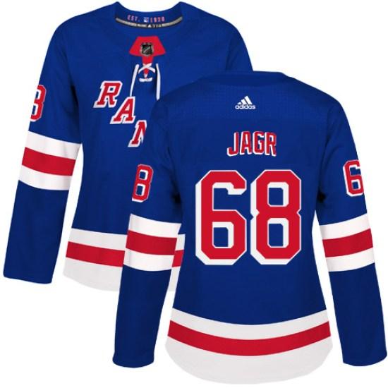 Adidas Jaromir Jagr New York Rangers Women's Authentic Home Jersey - Royal Blue