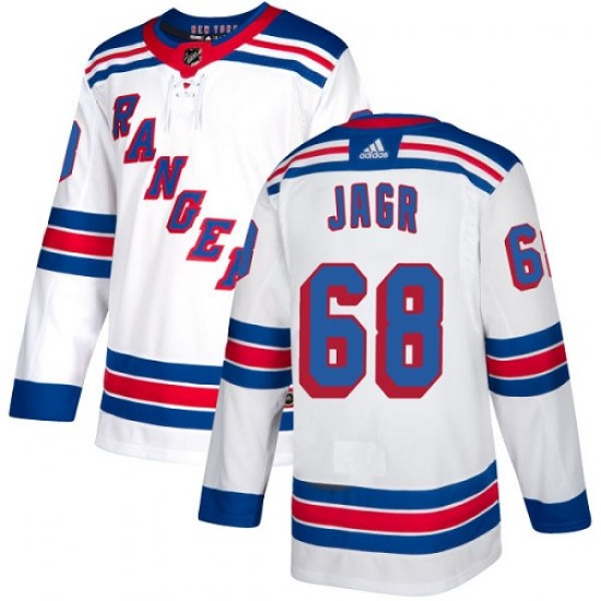 Adidas Jaromir Jagr New York Rangers Youth Authentic Away Jersey - White