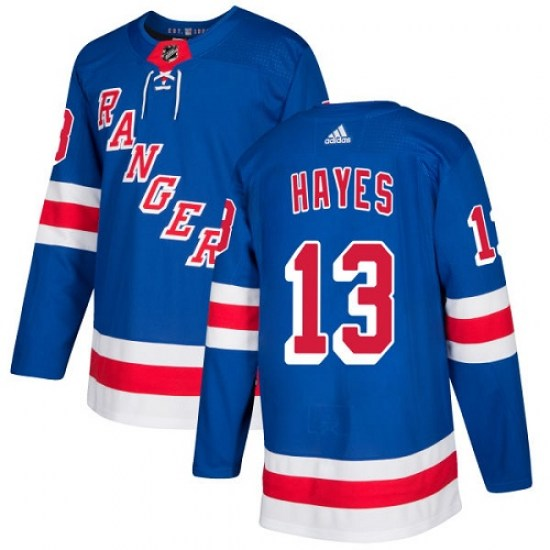 Adidas Kevin Hayes New York Rangers Youth Authentic Home Jersey - Royal Blue