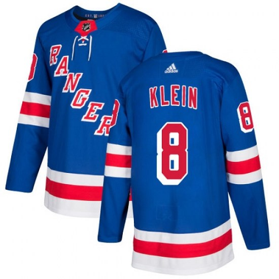 Adidas Kevin Klein New York Rangers Youth Authentic Home Jersey - Royal Blue